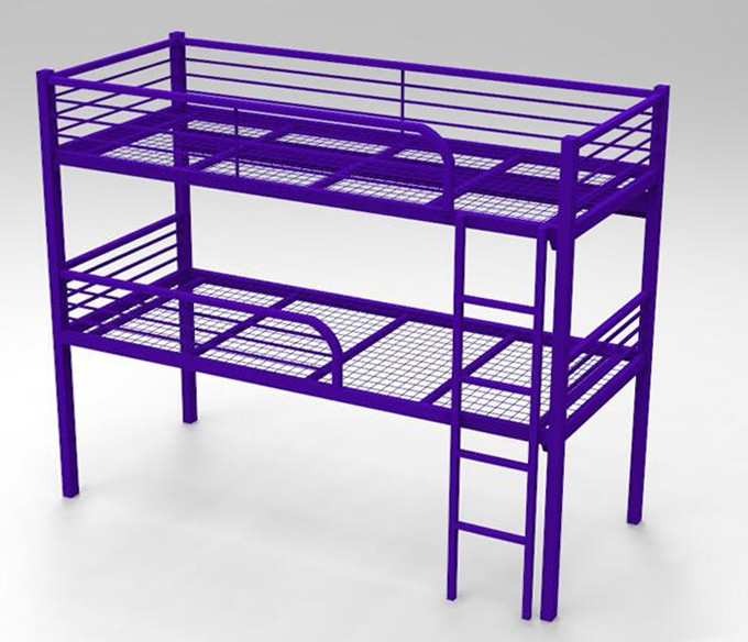 Strong Adult Two Decker Bunk Beds Metal Frame Adult Kids