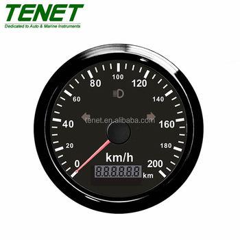 200 Kph To Mph >> Black Gps Speedometer 200 Kph Mph Display Metal Ring 85mm Universal