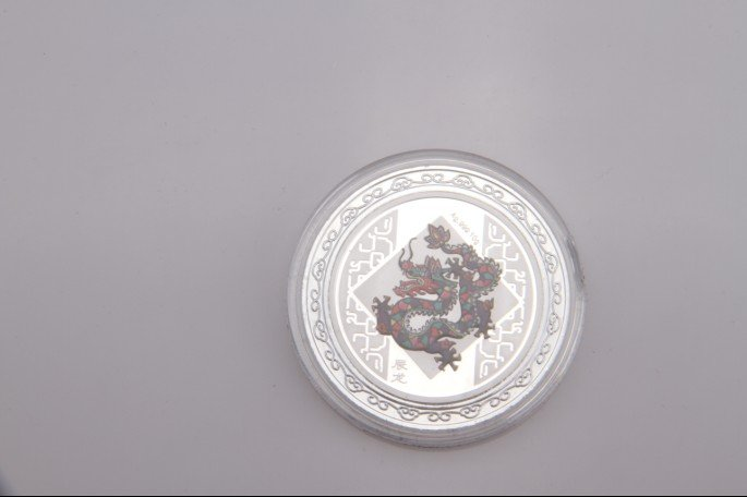 silver business gifts 999 silver Chinese zodiac coins