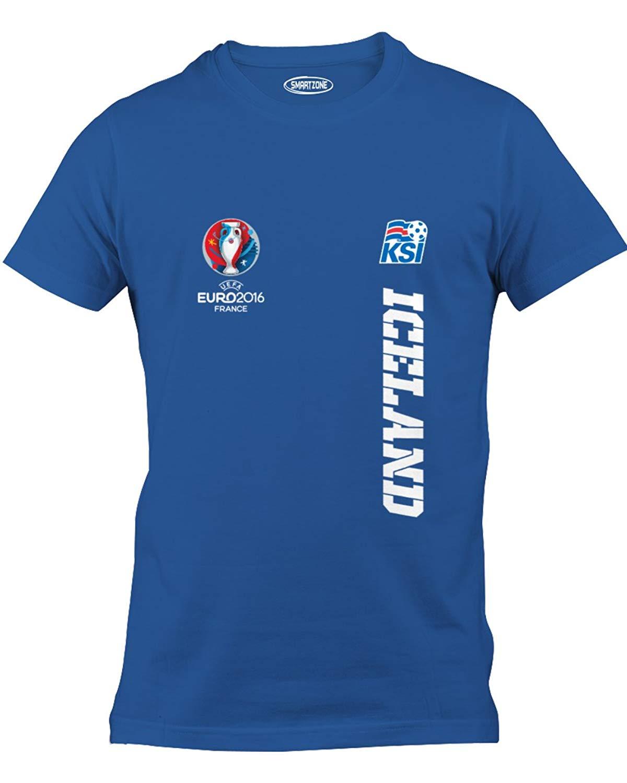 b31d712b2a290 Get Quotations · Smart Zone Euro 2016 Iceland Soccer Football Eurocup  T-Shirt