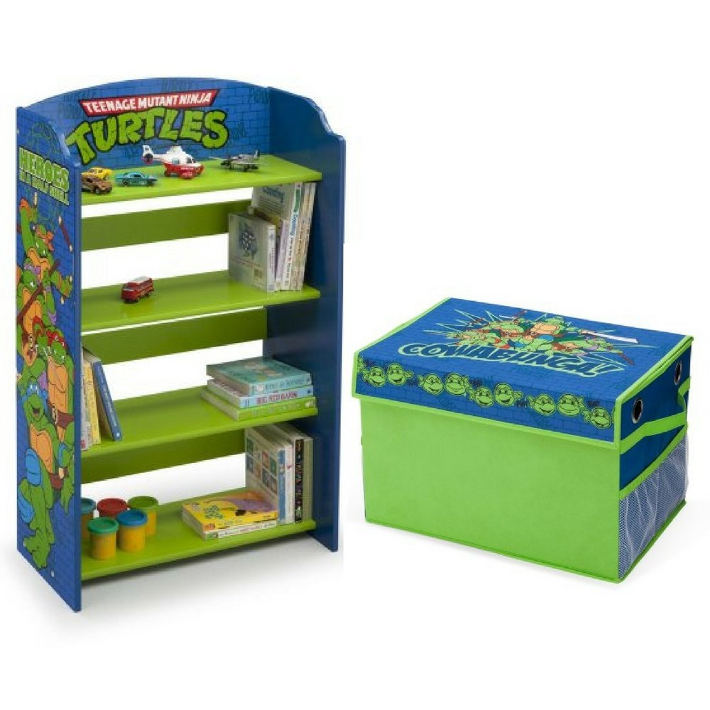 Get Quotations Delta Children Teenage Mutant Ninja Turtles Bookshelf With Nickelodeon Fabric Toy Box