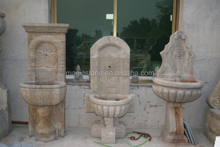 Granite Corner Carved Outdoor Stone Pedestal Sink