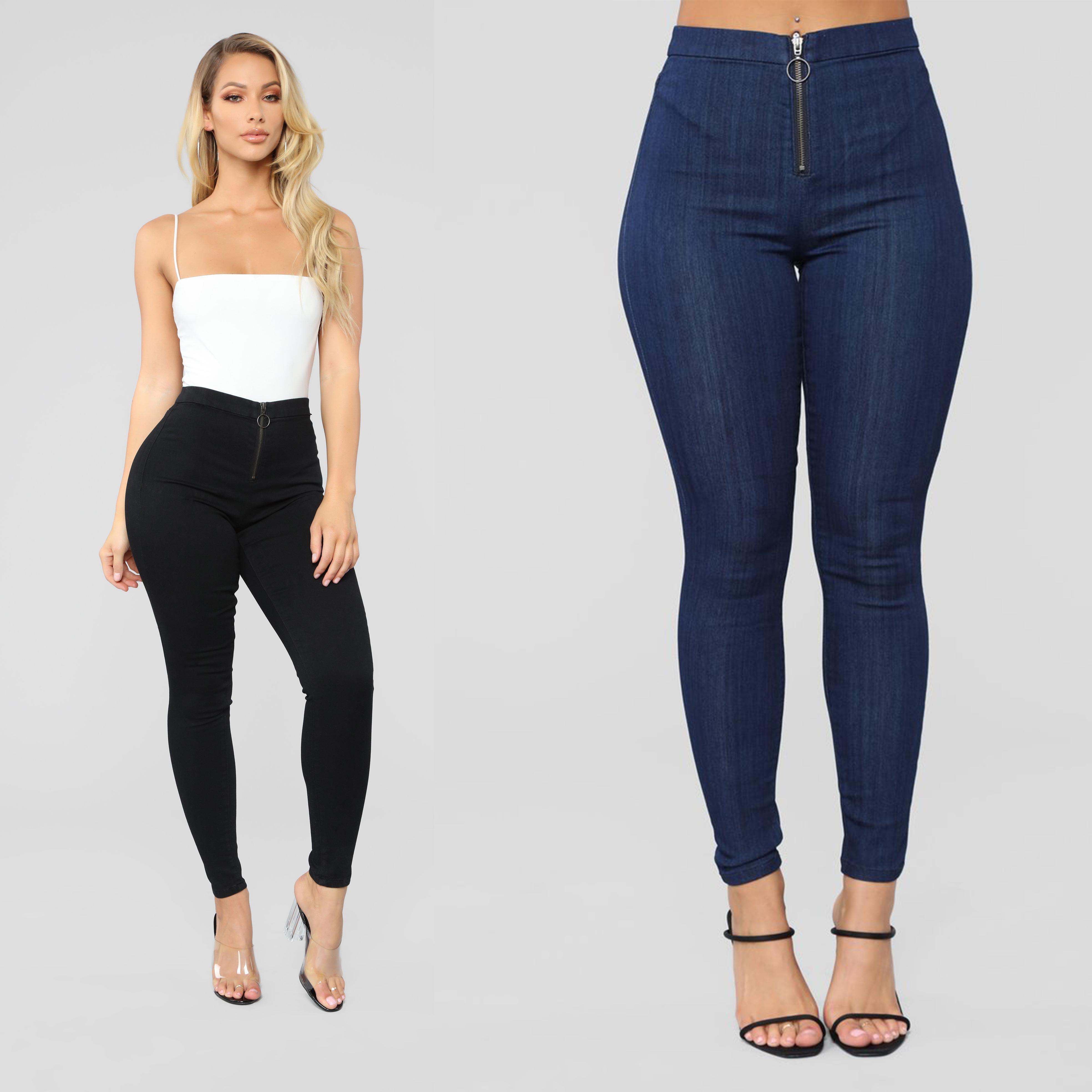 Straight Leg Stretch Denim Jeans High Waist Faded Indigo Dark Blue NEW 14-22