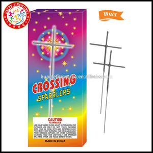 China factory golden cheap Cross electric sparklers fireworks wedding sparkler kids pyrotechnic toy wholesale fireworks