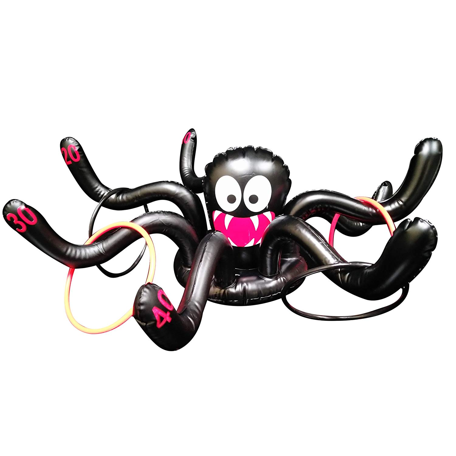 Fun Central BC552 1 Piece, 22 Inches, Inflatable Spider Ring Toss Game for Kids, Ring Ross Games for Kids, Toss Games for Outdoor Party, Kids Toss Games
