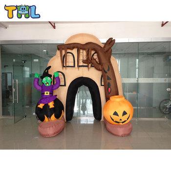 halloween inflatable yard decoration halloween inflatable archwayhalloween inflatable haunted house - Halloween Inflatable Yard Decorations