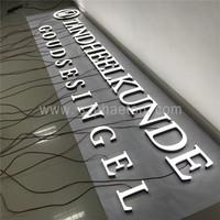 High quality frontlit led acrylic letters led lighted 3d plastic acrylic letters