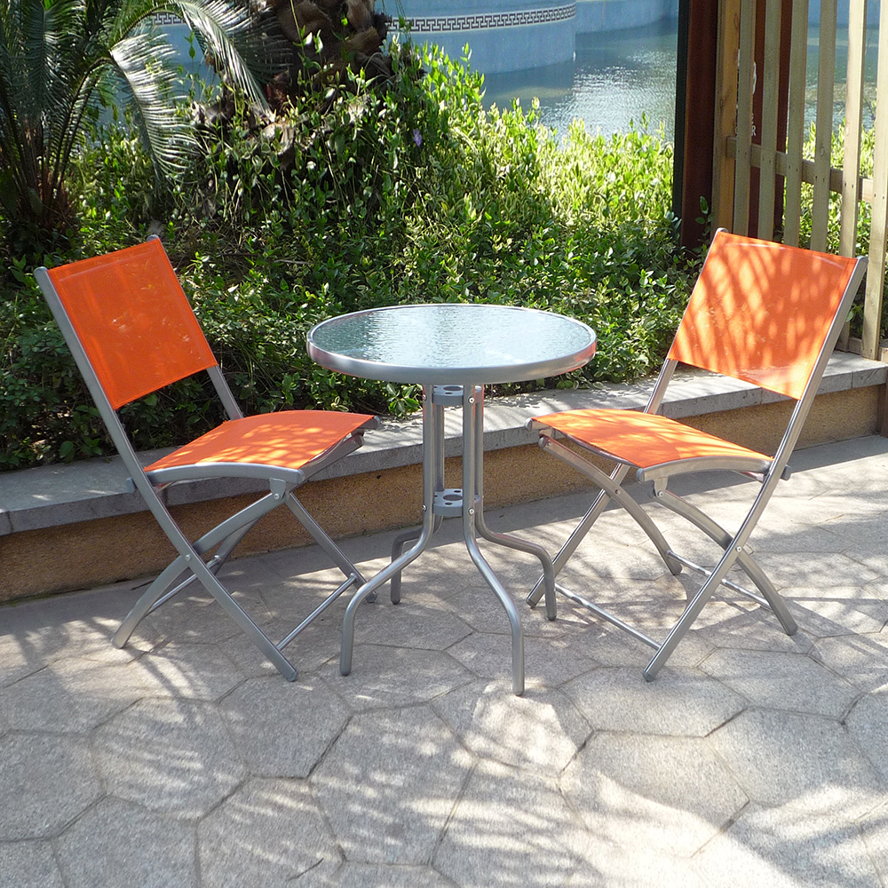 Steel folding cheap spain poland greece garden furniture with umbrella