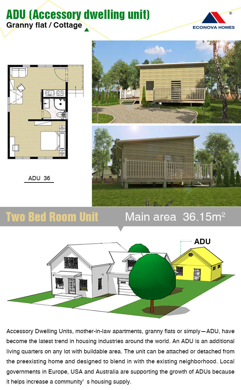 econova prefab modular accessory dwelling units granny flat