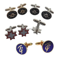 Custom men cufflinks blank Make Cufflinks Bulk Custom Masonic Logo Cufflink manufacturer wholesale