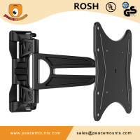 100% High Quality Peacemounts PMS200 Articulating Cantilever Arm Full Motion Slim TV Bracket Wall Mount