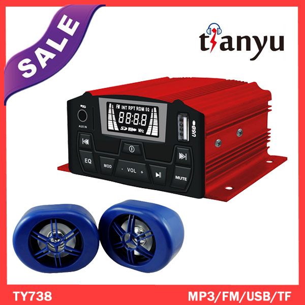 12V/48V Motorcycle vehicle MP3 music <strong>player</strong> waterproof