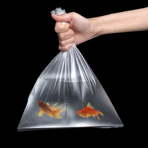 Square bottom fish carry bags plastic oxygenated transport bags live fish shipping bags