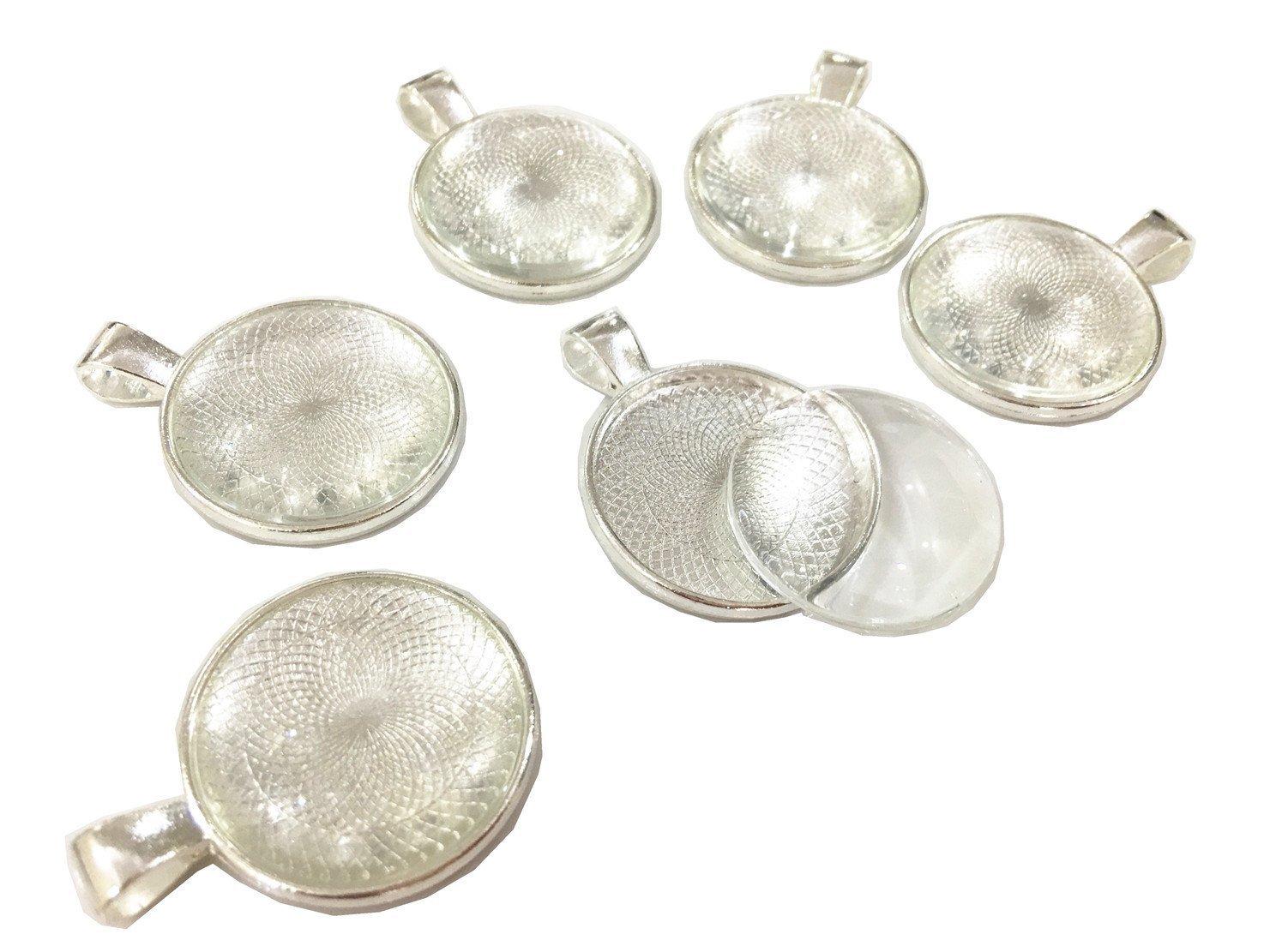 Bezel Cabochons Settings Glass Pendant setting 25mm Round Pendant Blank 1inch Round Pendant Bronze pendant Base