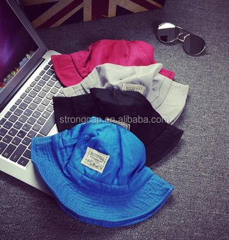 9256a82118f wholesale pigment dyed twill washed bucket hats cotton bucket hat ripped  fisherman fishing cap hat outdoor