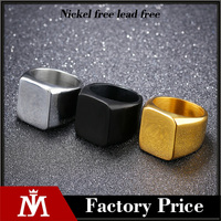 2017 High Polished Signet Solid Stainless Steel Latest Gold Rings Designs Engraved Jewelry For Men
