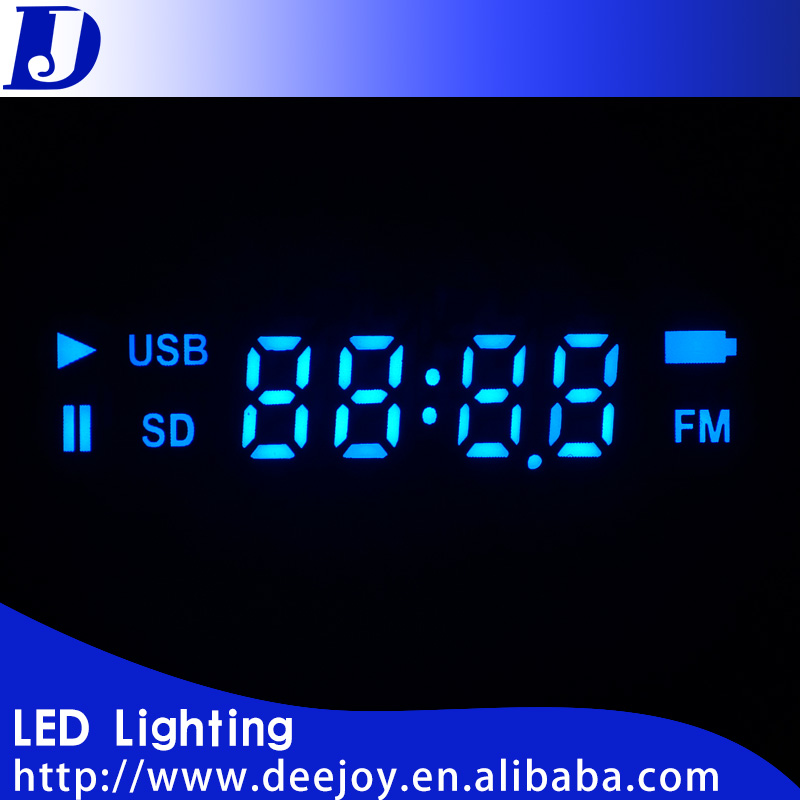 2401 blue digit 7 segment led display screen with low price for mp3 mp3 dvd