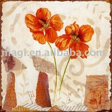 Romantic Valentine Flowers Wooden Wall Arts