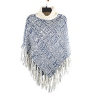 100% acrylic Iceland yarn and mohair high collar round collar shawl