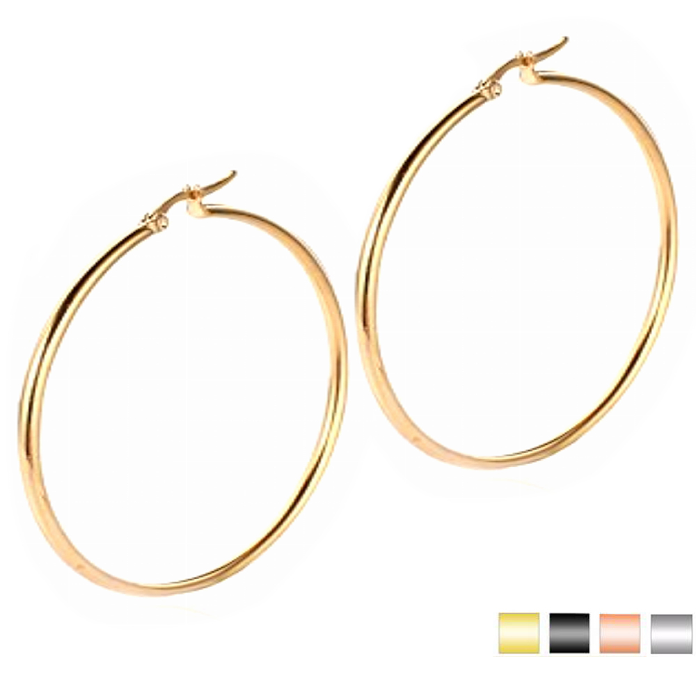 2017 Simple Round Earrings Online 40mm Earring Hoops Latest Style