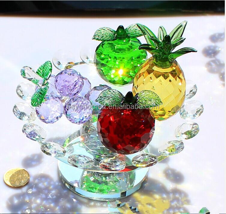 Modelo De Frutas De Cristal Itens Para Enfeites De Mesa Para Casa