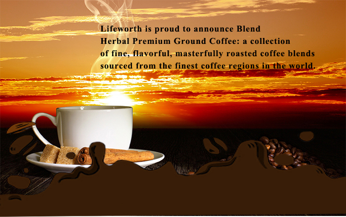 Lifeworth herbal sexual organic ground coffee