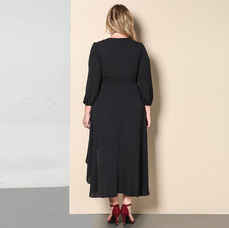 X65043A Plus Size Women Sexy Long sleeve Loose Casual Party Dress