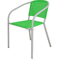 Wholesale promotion stackable rattan plastic arm chair