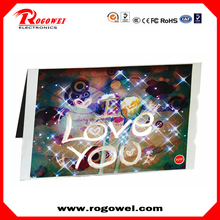 With CE and RoHS invitation card with fiber lights