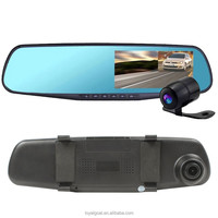 "Factory Price M301 Car Dash Cam, 4.3"" LCD FHD 1080p Dual Lens Car Camera Front and Rear DVR Video Recorder car mirror camera"
