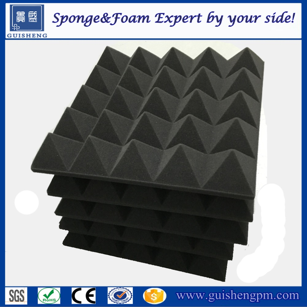 High Quality Soundproof Acoustic Foam Panels with wedge/egg/pyramid shape