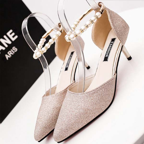 2017 Summer fancy women shoes stock high heel for ladies