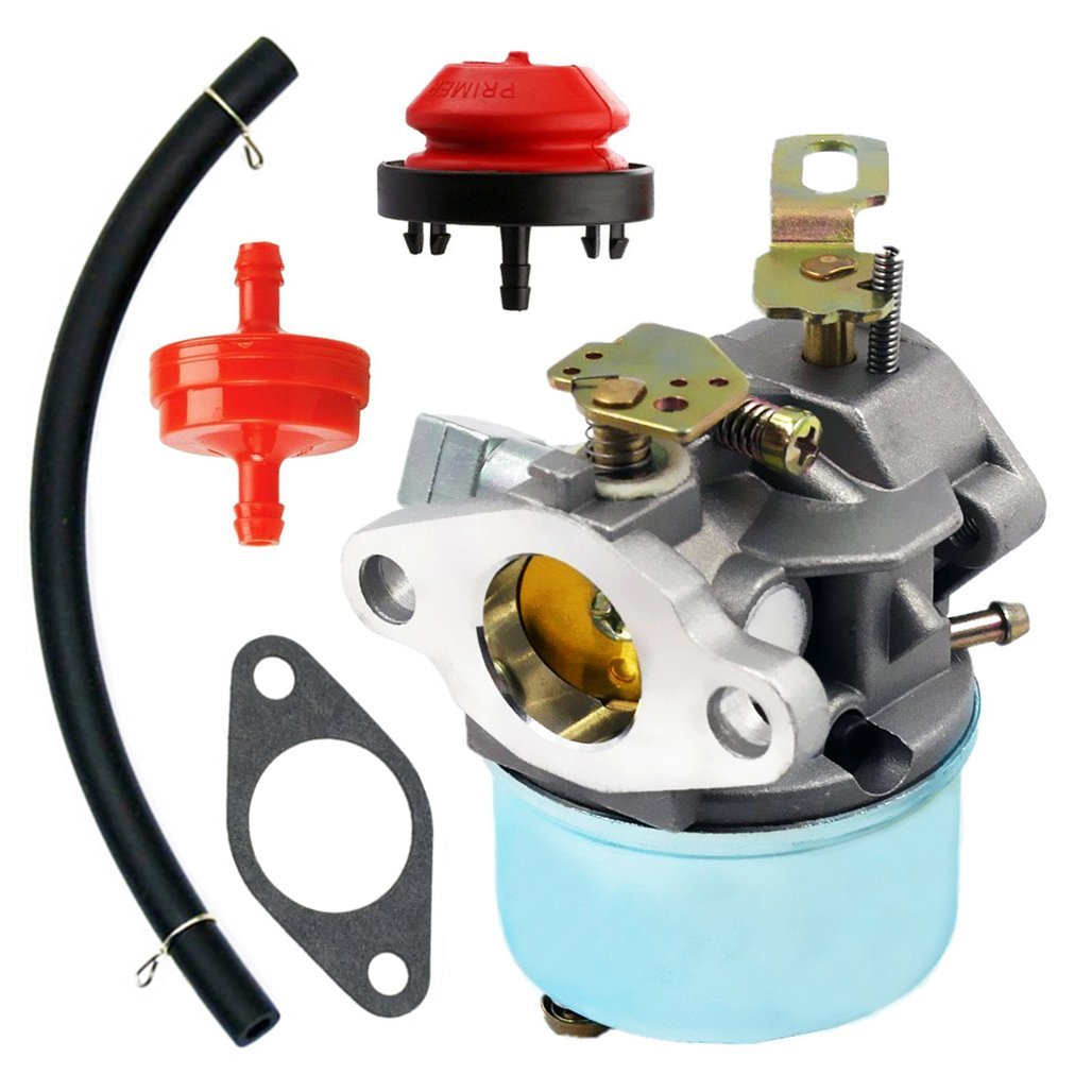 Get Quotations · QAZAKY Carburetor With Mount Gasket Fuel Filte Primer Bulb  Fuel Line for Tecumseh 640298 5.5hp