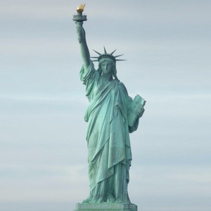 life size bronze antique statue of liberty sculpture for garden decoration
