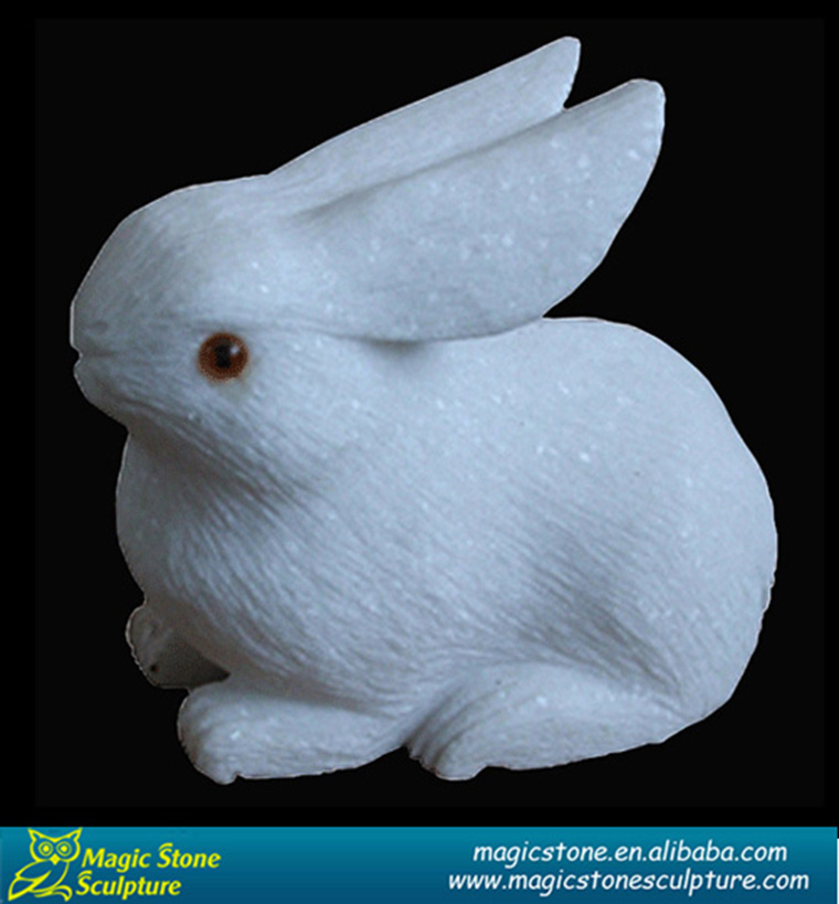 decorative small stone rabbit for indoor decor