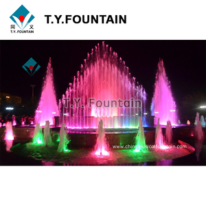 Large Scale Outdoor Led Light Floating Dancing Water Fountain For Pond