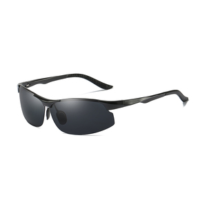 2018 AL - MY Metal Sports Driving Rimless Polarized Sunglasses For Men