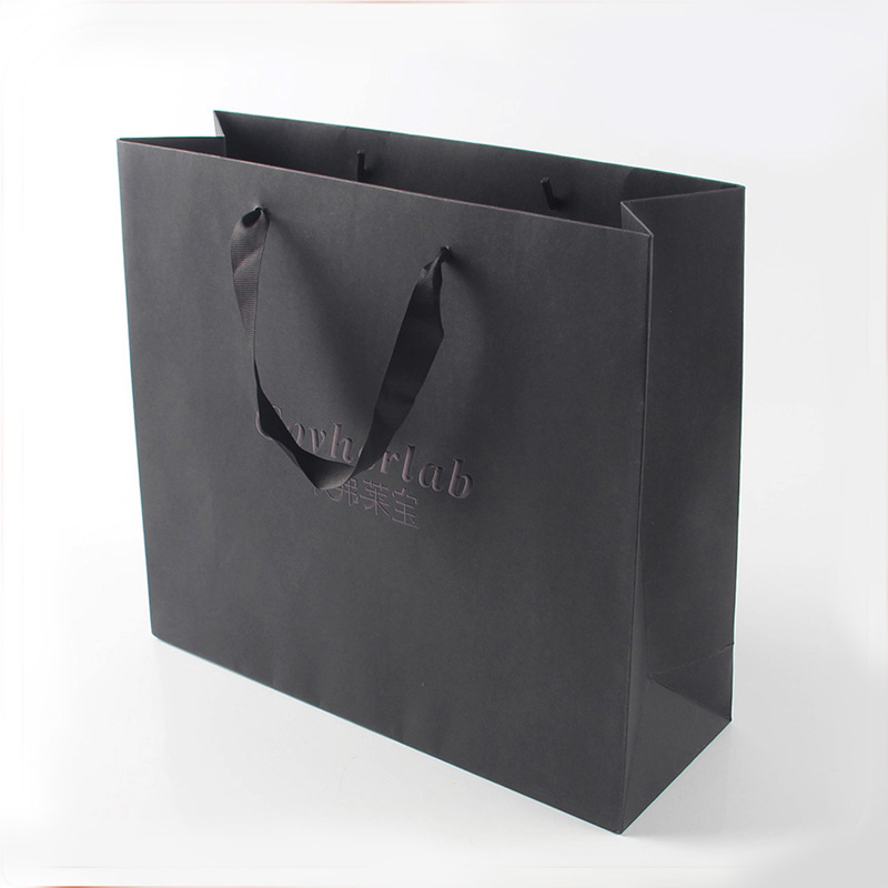 Custom Print Logo Fancy Paper Shopping Bag with Handle
