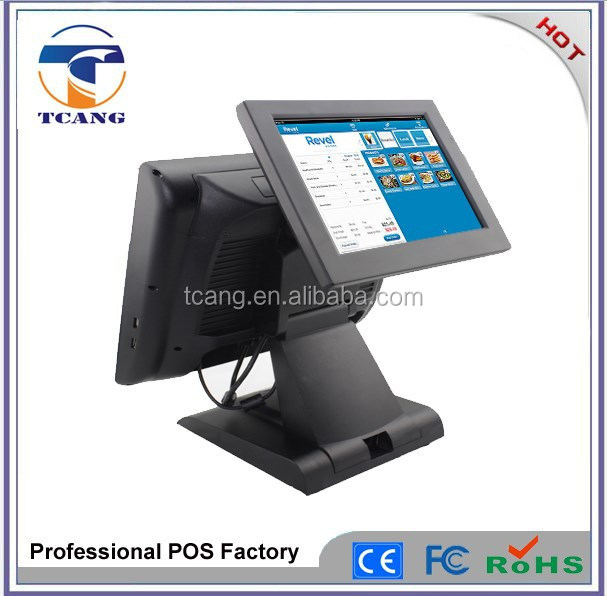 Resistive touch screen D525 dual core pos machine for hobby/gift/video shop