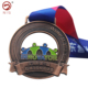 3D Marathon running awards iron cross medal stand