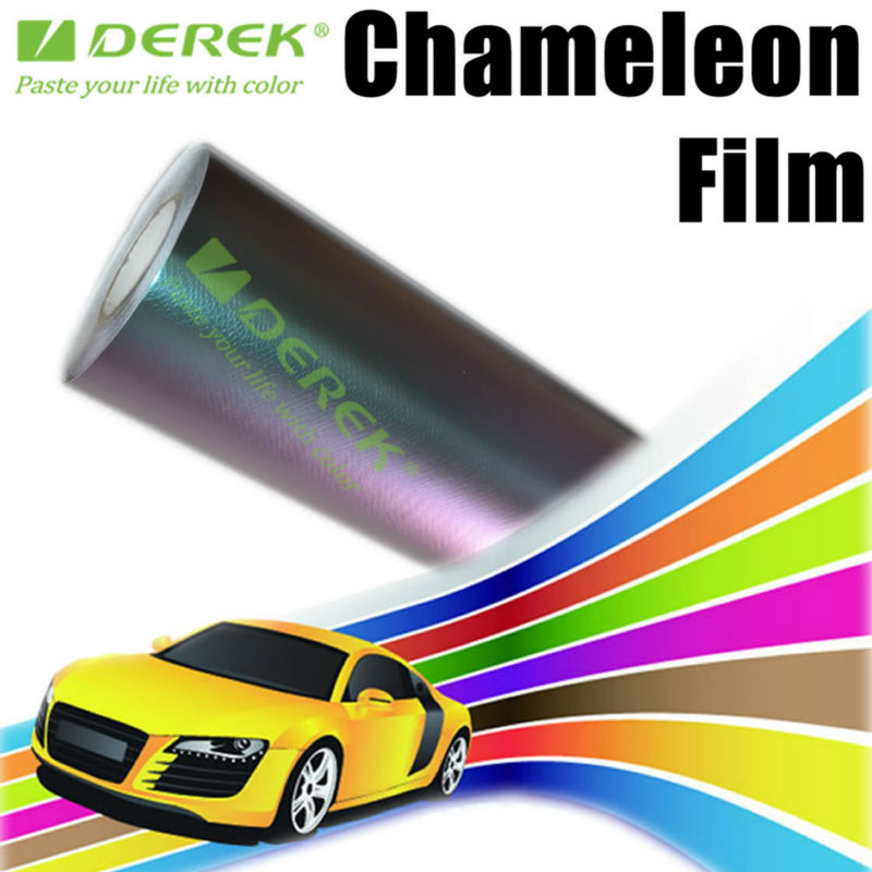 Glossy chameleon car wrap,smooth chameleon car wrap vinyl used protect vehicle painting