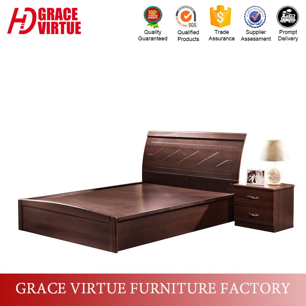 Wooden box bed design - Factory Wholesale Price Walnut Mdf Wooden Box Bed Design