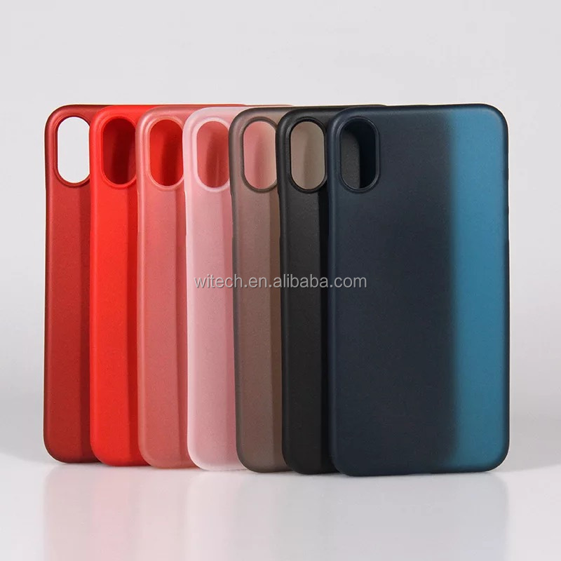 Free sample 0.35 MM Ultra slim PP plastic case mobile back cover for iPhone X case