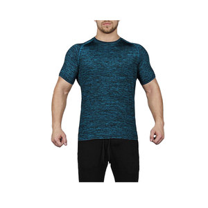 Dry Fit Shirt Wholesale Mens Sports Workout Apparel Short Sleeve Plain T-shirt with Custom Logo