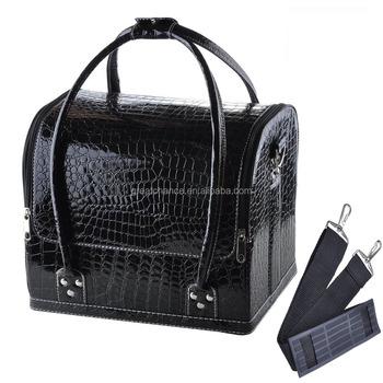 Pro Makeup Train Storage Bag Case Jewelry Box Cosmetic Artist Organizer Black