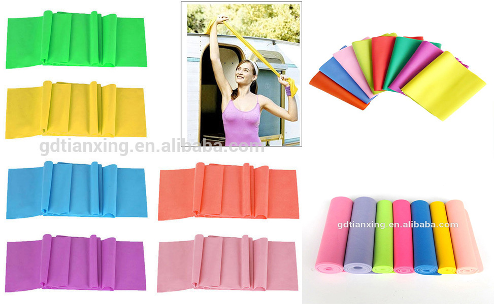Hot selling Gym oefening stretch latex fitness weerstand bands