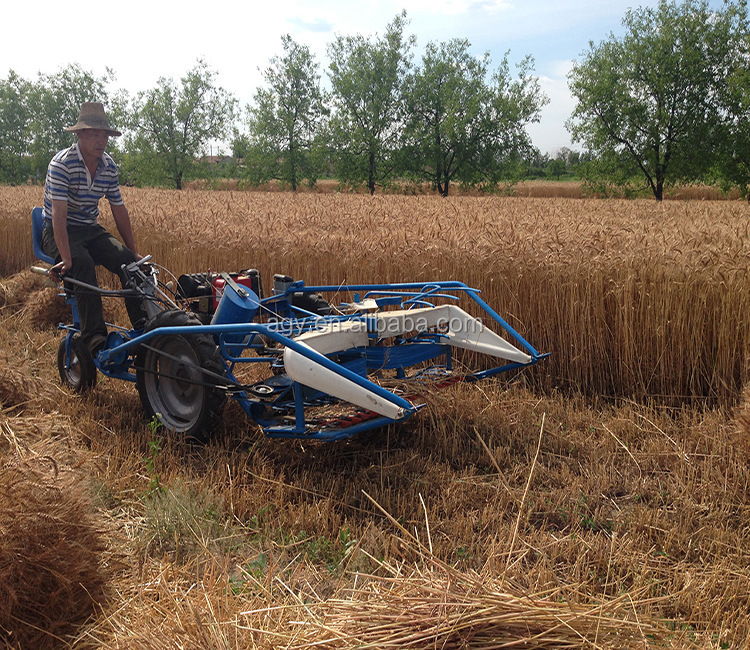 Agy Reaper Binder Bcs 622 Rice Harvester With Three Wheel