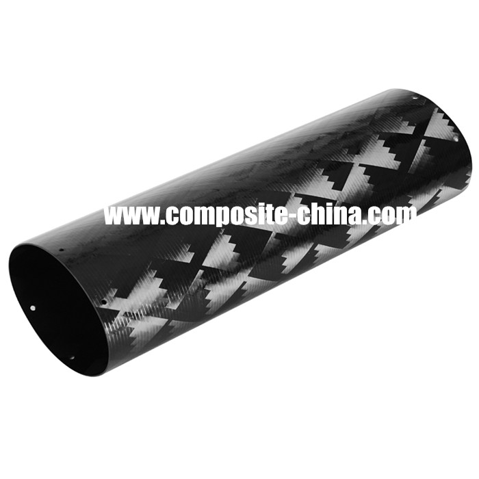 motorcycle exhaust carbon fibre pipe large diameter cf tube