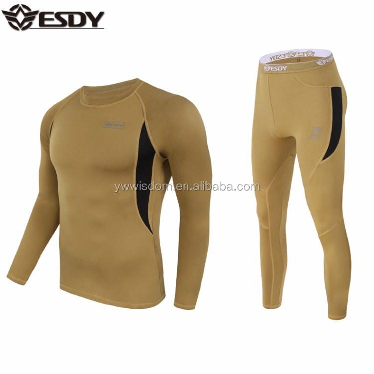 ESDY 4 Colors Men Combat Tactical Fleece Warm Sport Thermal Underwear