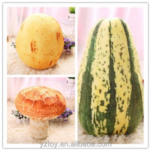 Dropshipping Simulation of fruits and vegetables plush pillows Potato Mushroom Melon plush cushion for sale
